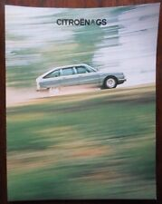 CITROEN GS range 1975 1976 UK Mkt sales brochure