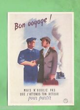 IMAGES OF WAR POSTER CARD - WWII, FRENCH WORKERS TRAVEL TO GERMANY