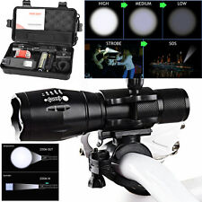 5000LM X800 XML T6 LED Zoom Tactical Military Flashlight +Silicone Bicycle Light