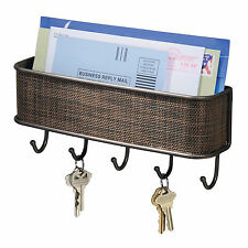 NEW Twillo Wall Mount Mail Letter Holder Key Rack Hook Organizer Storage Hanger