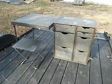 MILITARY SURPLUS FIELD DESK PLUS CHAIR TENT TABLE FOOD CAMPING HUNTING US ARMY