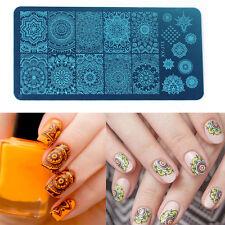 Nail Art Polish Manicure Image Stamping Template Mandala Print Plate hot