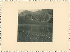France, Haut-Queyras, Lac de Ségure  Vintage silver print Tirage argentique