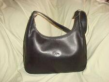 Black Leather Longchamp Shoulder Bag