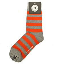 Richer Poorer Men's Crew Socks - Walk On - Grey & Orange