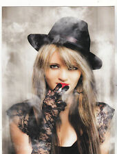 "*Postcard-""The Smoking Gangster Pretty Girl w/Black Hat"" (B-119)"