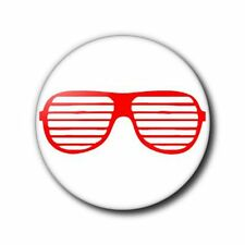 25mm Button Badge - Shutter Shades - Red