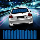 90*25cm Blue Car Sticker Music Rhythm LED Flash Lamp Sound Activated Equalizer
