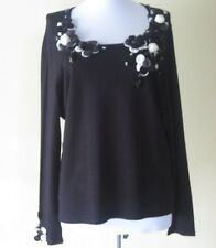 Women Knit Blouse By Philippe Carat Size XXL Black