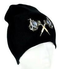Double Tattoo Gun Beanie Gothic Knit Cap Ink Kat Von D Psychobilly Rockabilly