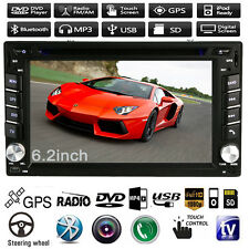 "6.2"" In Dash 2 Din Car Stereo DVD Player GPS Navigation Radio Bluetooth iPod MP3"