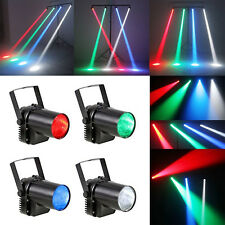 4PCS 3W RGBW Quad LED Pin Spot Beam Light Laser Effect Lighting Club Party Disco