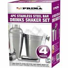 COCKTAIL SET SHAKER BAR MIXER STAINLESS STEEL KIT DRINK SILVER