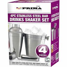 Set Cocktail Shaker BAR MIXER IN ACCIAIO INOX KIT bere ARGENTO