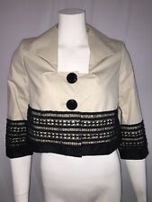 robert rodriguez embroidered cropped jacket size XS $530