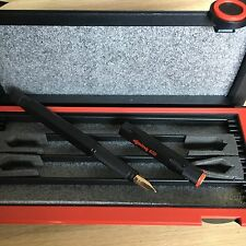 Rotring 600 Black fountain with Gold solid 18kt nib in F size never inked