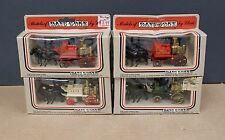 Lledo Diecast Horse Drawn Fire Engines Lot Collection of 4 Different 1980s 1:55