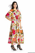 New Indian Cotton Kaftan Plus Size Women Dress Caftan Boho Hippy Beach Cover Up