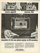 Publicité  ...POLAROID  appareil photo