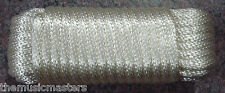 """WHITE Solid Braid 3/8"""" x 50' UTILITY ROPE Marine Boat Dock Anchor HQ Line Cord"""