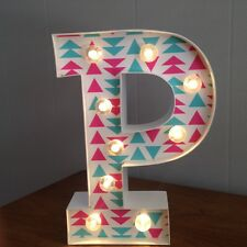 "Letter P Light Up Sign - 10"" Tall - Home Decor - New w/ Tags - LED - White"