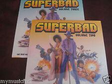 SUPERBAD VOL 2/3 SOUL SOUNDTRACK  JAMES BROWN 4TOPS ARETHA+MORE  Sealed LP SET