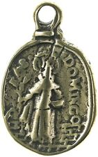ST. DOMINIC / HOLY MAGI KING Medal, bronze, cast from antique Italian original