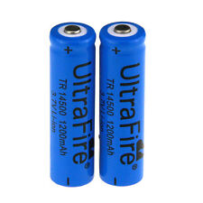 2pcs Ultrafire Rechargeable 14500 3.7V 1200mAh Li-ion Battery f Flashlight Torch