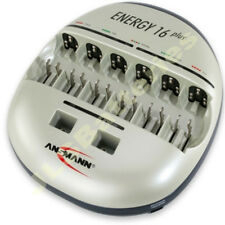 Ansmann ENERGY 16 PLUS Battery Charger 1-12 AA AAA 1-6 C D 1-4 9v, 2 USB EU PLUG