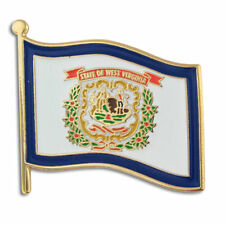 NEW Classy WEST VIRGINIA WV Flag  Lapel Pin 1 inch wide! morgantown weirton