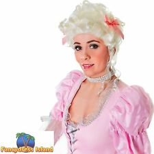 WHITE MARIE ANTIONETTE MASQUERADE WIG Ladies Womens Fancy Dress Costume