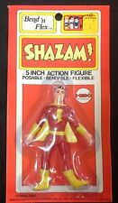 "Original 1972 Mego World's Greatest Super Heroes ""SHAZAM"" Bend n' Flex MOC WGSH"