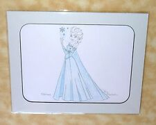 NEW disney sketch elsa snow queen movie frozen full body signed by artist 11x14