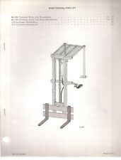 Bobcat Vertical Fork Lift for Skid Steer Loader Parts Manual