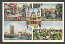 Ca 1923 PPC* LONDON ENGLAND COLLAGE OF FAMOUS SITES MINT