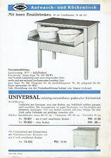 Eschebach Radeberg Prospekt Aufwasch und Küchentisch 1935