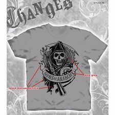 Sons of Anarchy SOA Flocked Gear T-Shirt Medium