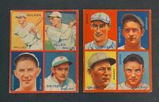 1935 Goudey 4-In-1 Baseball Cards Hack Wilson Lot 126