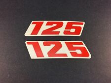 KTM 125 EXC SX 1989 Displacement Decal Sticker Set for Radiator Shroud Original