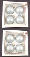 Christmas by Krebs Blue Hand Decorated Glass Christmas Tree Ornaments 2 Boxes