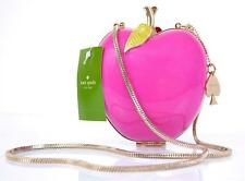 NEW KATE SPADE $328 FAR FROM THE TREE PINK RESIN APPLE MINI EVENING PURSE BAG