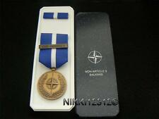 FULL SIZE BOXED ORIGINAL NATO NON ARTICLE 5 BALKANS MEDAL IN MINTCONDITION