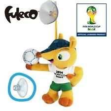 World Cup 2014 Brazil Mascot Fuleco Plush Toy 13cm Suction Cup Hold the Ball