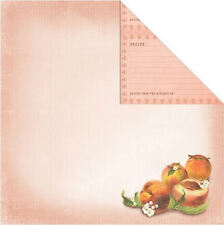 PEACH 12x12 Dbl-Sided (2PCS) Scrapbooking Papers Recipe Cards 99 CENT SALE!
