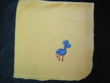 Yellow w Blue Red Polka Dot Giraffe Vintage Lightweight Security Baby Blanket