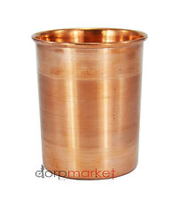 Dorpmarket 1 Pcs Pure Copper Handmade Ayurveda Glass Cup for Drinking Water