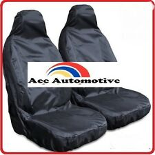 SMART FOR TWO LHD FRONT BLACK WATERPROOF CAR SEAT COVERS 1+1