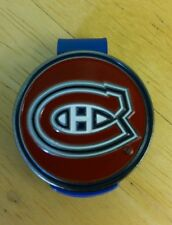 "Montreal Canadiens 1"" Golf Ball Marker 2 sided with Blue Hat Clip NHL"