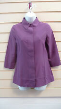 REDUCED WOMENS CASUAL / PARTY SMART PURPLE TUNIC BLOUSE  SHIRT SIZE 6  BNWT