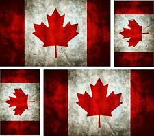 4x sticker flag canada canadian vintage car motorcycle macbook luggage